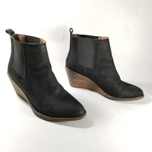 Lucky Brand Black 'Pallet' Wedge Chelsea Boots